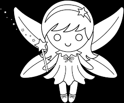 fairy clipart line drawing pencil and in color fairy clipart