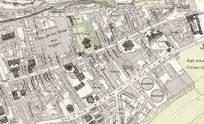 Edinburgh Map Maps Of Edinburgh Old Town 1891 Royal Mile East