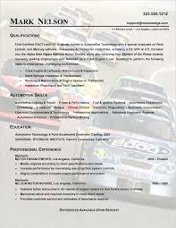 Sample Technical Resume by Sample Technical Resume Auto Mechanic