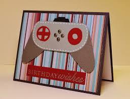 masculine handmade birthday card video game geek birthday xbox