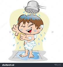 kids take a shower clipart clipartxtras