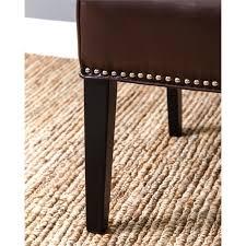 Hudson Dining Chair Abbyson Living Hudson Leather Nailhead Trim Dining Chair In Dark