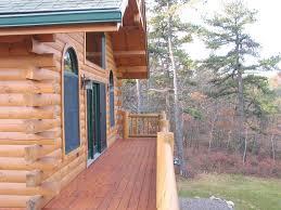 wraparound deck rustic log home lakeside retreat