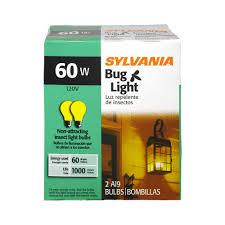 no bug light bulb sylvania 60 watt bug light bulb 2 0 ct walmart com