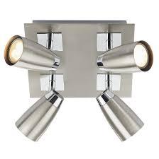 loft 4 light low energy square plate chrome polished chrome