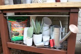Inexpensive Potting Bench by Potting Bench The Cavender Diary