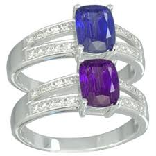 chagne diamond engagement ring 14k white gold color change tanzanite and diamond engagement