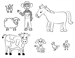 farm animals clipart easy animal pencil and in color farm