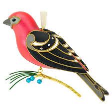 the of birds pine grosbeak ornament keepsake ornaments