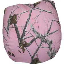 tree ap pink camo bean bag chair