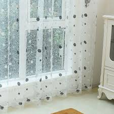 Sheer Embroidered Curtains 2017 2016 New Bird Nest Modern Sheer Panel Embroidered Curtains