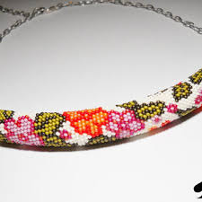 beaded necklace rope images Bead crochet necklace beaded necklace from calliphorabeads on jpg