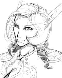 blood elf sketch by just like shipwrecks on deviantart
