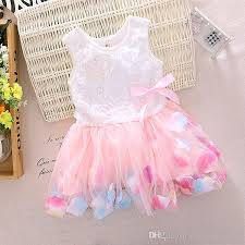 new design 2017 toddlers baby dresses with flower tulle