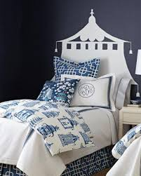 inspired bedding home blue and white ming pagoda bedding