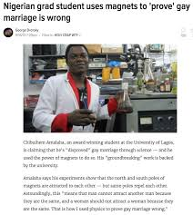 Meme Magnets - nigerian proves gay marriage is wrong with magnets no meme he s