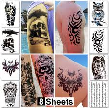 tattoo pictures for men on arms amazon com 8 sheets temporary tattoos for guys for men koi