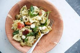 pesto pasta salad with slow roasted tomatoes dunk u0026 crumble