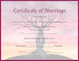 marriage certificates template