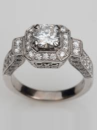 engagement rings vintage images Vintage princess cut engagement rings antique princess cut png