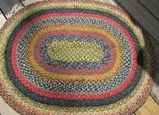 Small Round Braided Rugs Antique Braided Rug Ebay