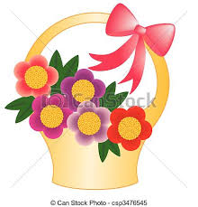 flower basket basket flower basket with flowers clipart vector search