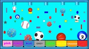balls for children to learn colors with sport ball games kids