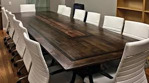 dark wood conference table handmade custom conference tables by american outpost