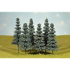 bachmann trains 3 4 pine trees 9 per box toys