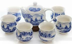 porcelain tea set wall cup heat insulated ceramic