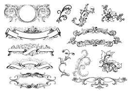 decorative floral ornament vectors free vector