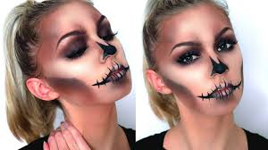 Halloween Skeleton Faces by Easy Glam Skull Halloween Makeup Tutorial Youtube