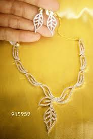 leaf pattern necklace party wear necklace gold set new fashion women leaf pattern