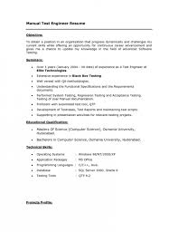 Manual Testing Experience Resume Sample by The Most Awesome Software Test Engineer Resume Resume Format Web