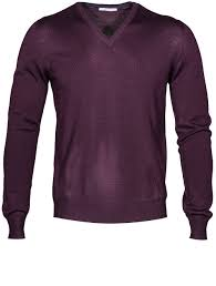 gran sasso sweaters sasso purple wool v neck sweater