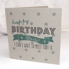 happy birthday daddy to be card by bells scambler