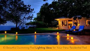 Pool Landscape Lighting Ideas Swimming Pool Lighting Design Lights Fiber Optic Pools Led