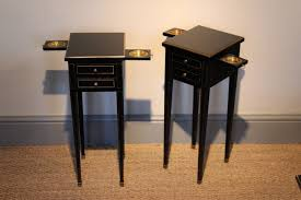Small Bedside Table Smart And Small Pair Of S Ebonised Bedside Tables