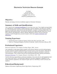 Resume Samples Engineering Students by Electronic Technician Resume Examples Resume Format 2017