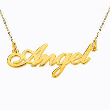 Personalized Gold Name Necklaces Personalized Gold Name Necklace 925 Silver Name Necklace Linked