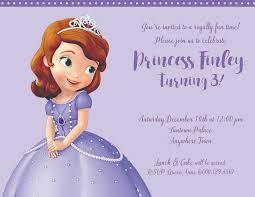 sofia the birthday princess sofia birthday party invite printable chandra tallman