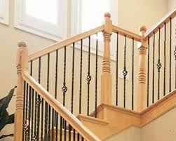 Banister Rails Metal Wood And Metal Stair Railing Spindles Deck Railing At Http