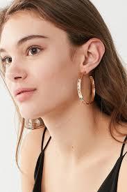 large hoop earrings elizabeth geo diamond large hoop earring