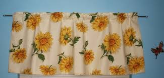 Sunflower Valance Curtains Sunflower Valance Curtain Vintage Original Bloomcraft Fabric