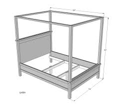 Standard Queen Bed Size Ana White Saving Alaska Farmhouse Canopy Bed Diy Projects