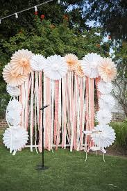 diy photo backdrop 20 diy paper wedding backdrops brit co
