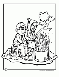 free camping coloring pages 46159