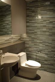 Bathroom Faucets Seattle by Powder Room Tile Wall Modern Seattle With Brown Towel Bars