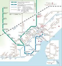 A Train Subway Map by Japan Railways Train And Subway Maps Nihone