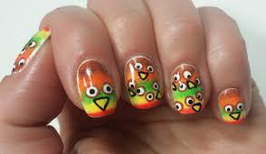 easy thanksgiving nail art designs thanksgiving nail art tutorial fun design youtube